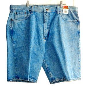 🔖 WRANGLER Relaxed Fit Stone-Washed Denim Shorts